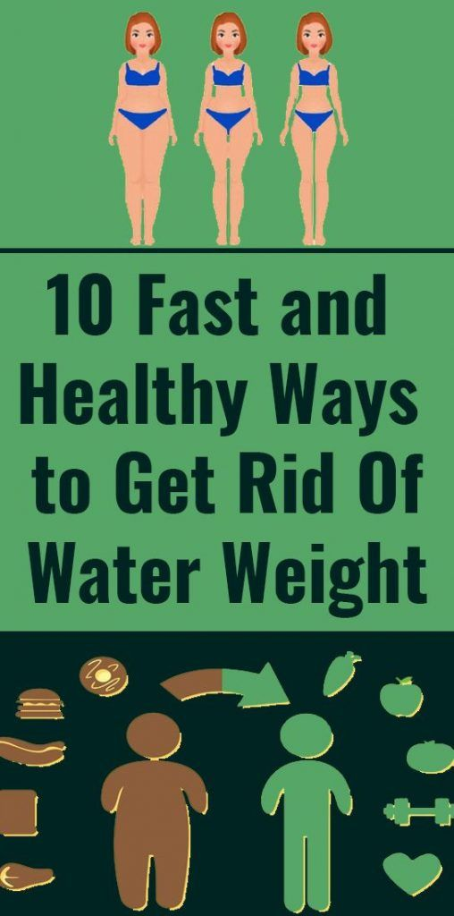 10 Fast and Healthy Ways to Get Rid of Water Weight
